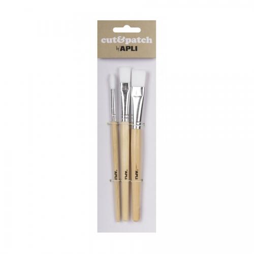 APLI 17236. Set 3 pinceles Cut&Patch de madera