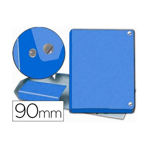 PARDO 63104. Carpeta proyectos folio lomo 90 mm carton forrado azul con broche.