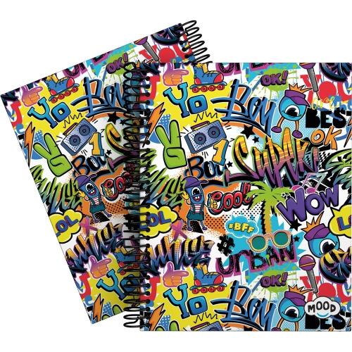 GRAFOPLÁS 16512623. Cuaderno tapa dura A5, 90 hojas, Mood Crush
