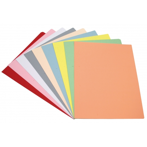 GRAFOPLAS 00172199. Pack 100 subcarpetas A4 de 180 gr. Colores pastel surtidos
