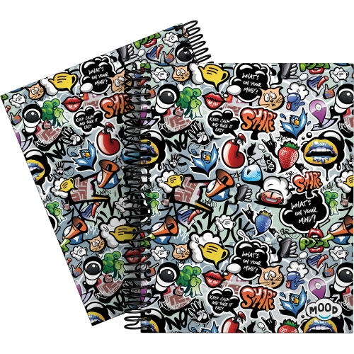 GRAFOPLÁS 16512624. Cuaderno tapa dura A5, 90 hojas, Mood Deck