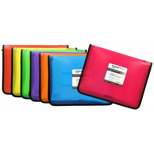 GRAFOPLÁS 04800654. Pack 2 carpetas con cremallera A4+ Blackline color rosa fucsia