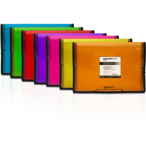 GRAFOPLÁS 02960352. Pack 2 carpetas fuelle de polipropileno con goma color naranja