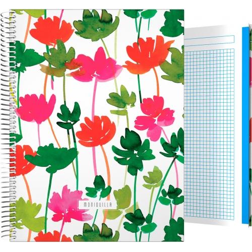 GRAFOPLAS 16501966. Cuaderno tapa dura A4 Moniquilla Flores