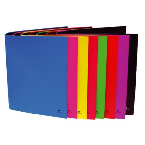 Mariola 382FP. Pack 8 carpetas folio 2 anillas 40 mm cartón plastificado colores surtidos