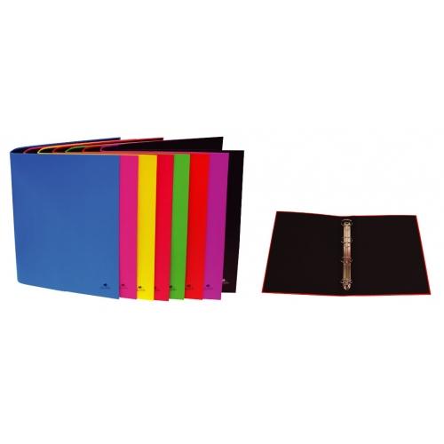 Mariola 384FP. Pack 8 carpetas folio 4 anillas 40 mm cartón plastificado colores surtidos