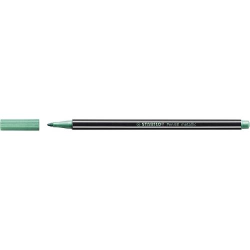 STABILO 68-836. Rotulador Pen 68 metallicTrazo 1.4 mm. Verde metálico