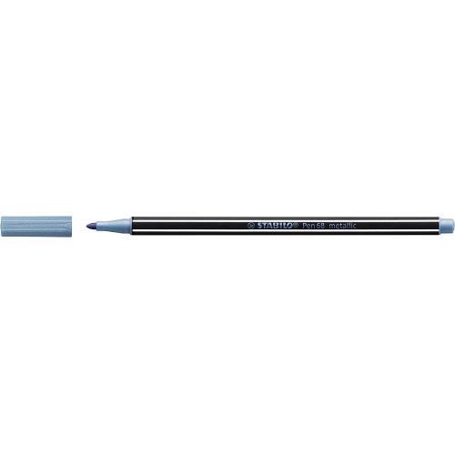 STABILO 68-841. Rotulador Pen 68 metallicTrazo 1.4 mm. Azul metálico