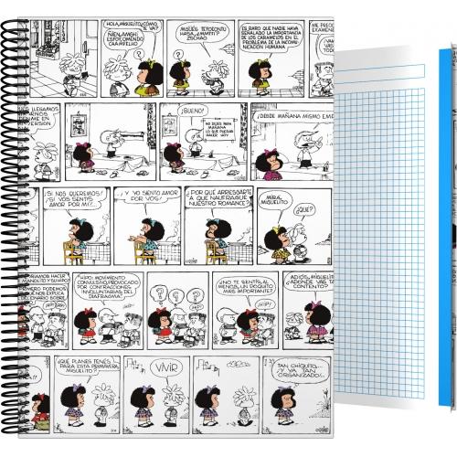 GRAFOPLAS 16501971. Cuaderno tapa dura A4 Mafalda Comic