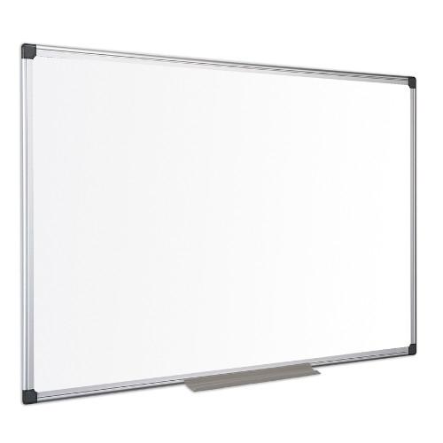 BI-OFFICE MA1507170 Pizarra blanca magnética Maya con marco de aluminio - 150 x 100 cm.