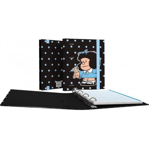 GRAFOPLAS 88111972. Pack 2 CarpeBook con goma A5 Mafalda Lunares