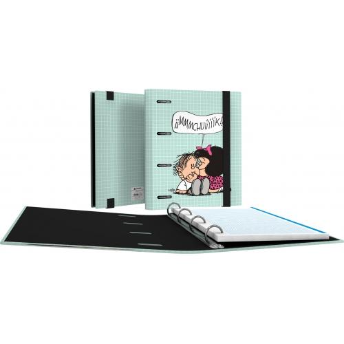 GRAFOPLAS 88111973. Pack 2 CarpeBook con goma A5 Mafalda Muak