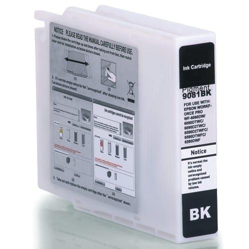 Iberjet ET9081-BK Cartucho de tinta negro, reemplaza a Epson C13T908140