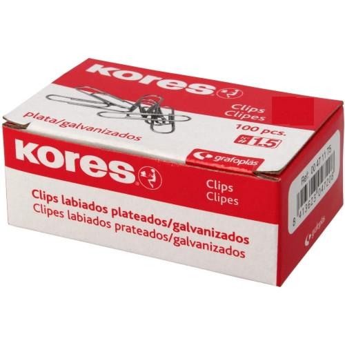 GRAFOPLÁS 00471375 Caja 100 Clips Galvanizados Labiados 42 mm (nº 3)