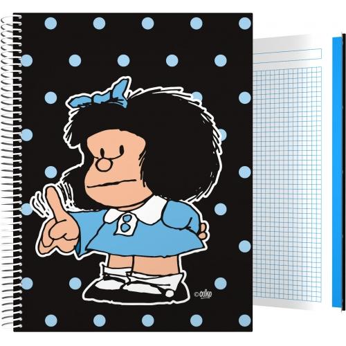 GRAFOPLAS 16501972. Cuaderno tapa dura A4 Mafalda Lunares