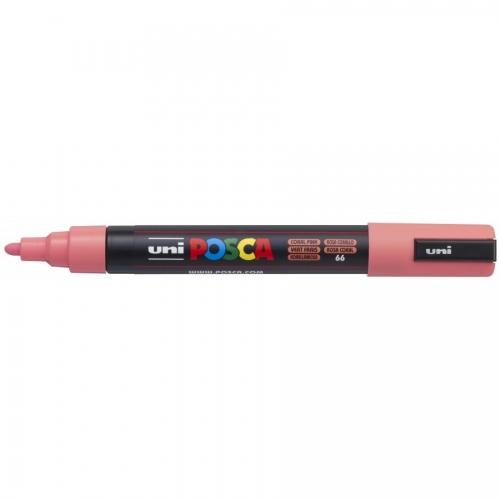 UNI POSCA PC-5M Rosa coral. Marcador de pintura no permanente. Trazo 1,8 - 2,5 mm.