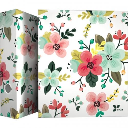 GRAFOPLAS 88171934. Pack 2 carpetas de anillas 40 mm. A4 Noa Flores