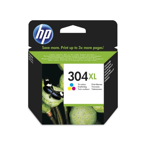 HP 304XL Cartucho de tinta original tricolor - N9K07AE