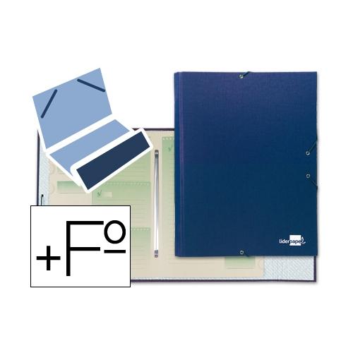 Liderpapel CS01. Carpeta clasificadora 12 departamentos folio prolongado azul