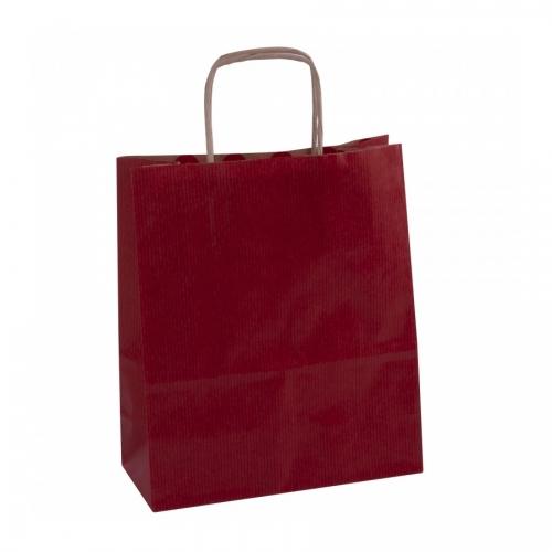 APLI 102068. Pack 50 bolsas de papel kraft color rojo (18 x 8 x 21 cm.)