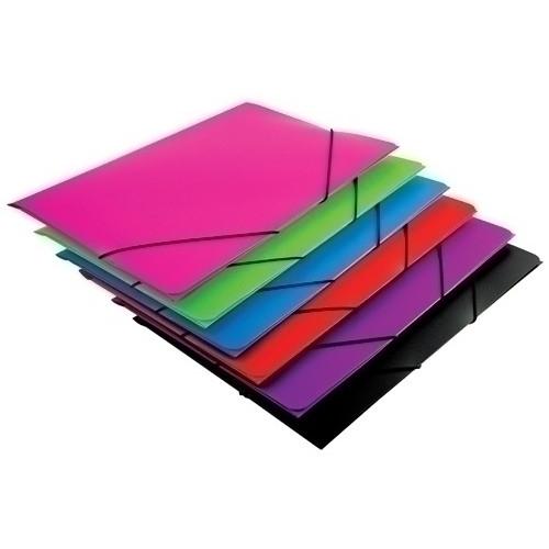 CARCHIVO 1085PSU Carpeta de gomas con solapas de polipropileno Folio. Colores surtidos