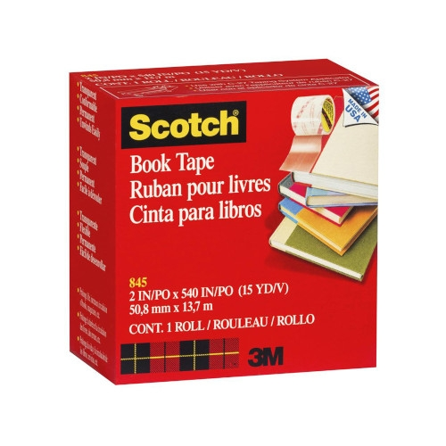 Scotch 845 book tape Cinta adhesiva para libros - 50,8 mm x 13,7 mt.