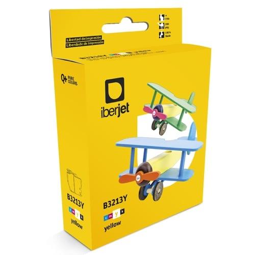 Iberjet B3213Y Cartucho de tinta amarillo, reemplaza a Brother LC3213Y