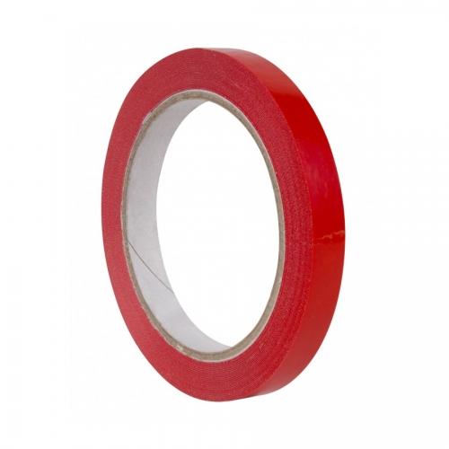 APLI 16998. Pack 12 rollos de cinta adhesiva roja de 12 mm x 66 m