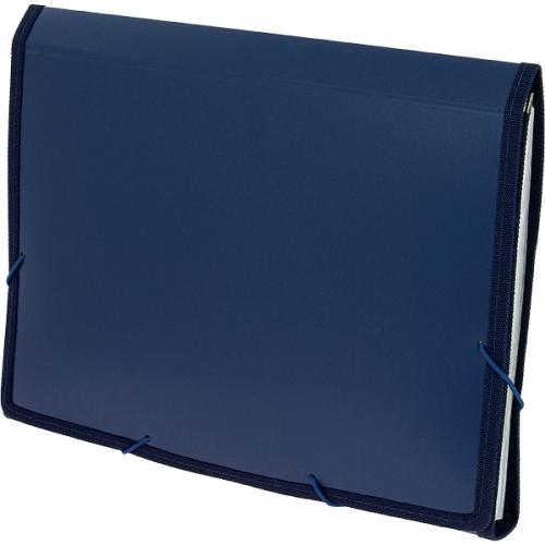 GRAFOPLÁS 02960430. Carpeta fuelle de polipropileno azul opaco formato folio