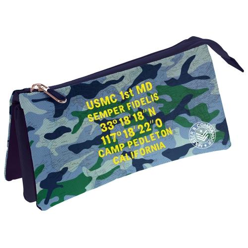 GRAFOPLAS 37540644. Estuche escolar portatodo triple Master & Commander Azul
