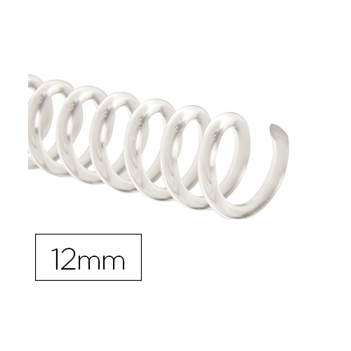 Q-Connect KF18760. Caja de 100 espirales plástico transparente 12 mm