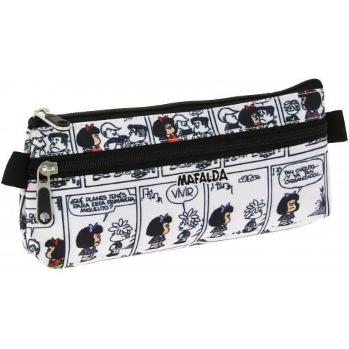 GRAFOPLAS 37540771. Estuche escolar portatodo plano Mafalda Comic