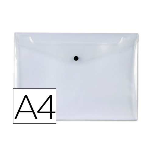 Liderpapel DS17. Carpeta dossier A4 50 hojas con broche de polipropileno transparente