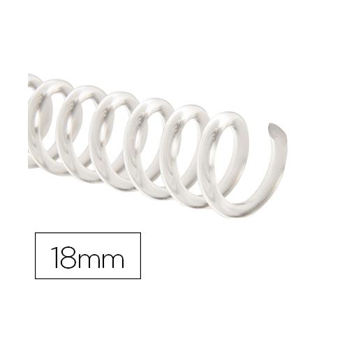 Q-Connect KF18763. Caja de 100 espirales plástico transparente 18 mm