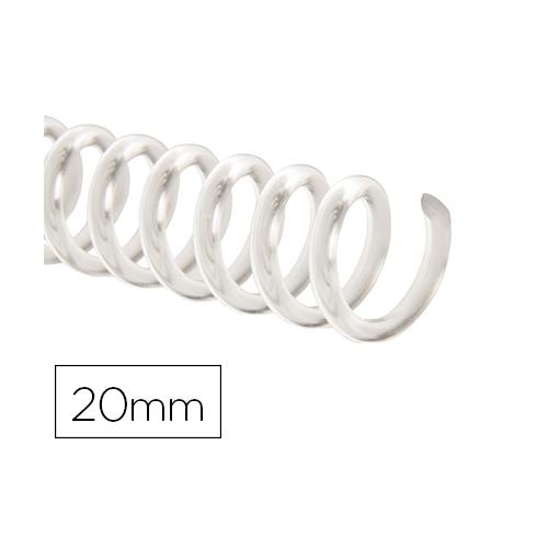 Q-Connect KF18764. Caja de 100 espirales plástico transparente 20 mm