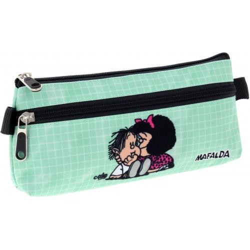 GRAFOPLAS 37540773. Estuche escolar portatodo plano Mafalda Muak
