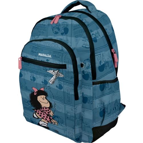 GRAFOPLAS 37500192. Mochila escolar Rubber Mafalda Avión