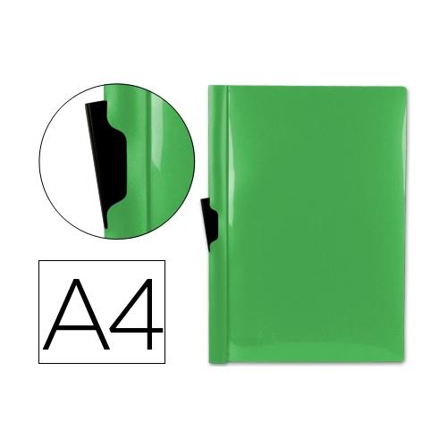 Liderpapel DP07. Carpeta dossier verde frosty con pinza lateral de polipropileno 30 hojas A4