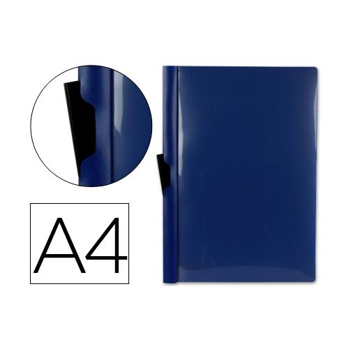 Liderpapel DP03. Carpeta dossier azul con pinza lateral de polipropileno 30 hojas A4