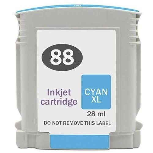 Iberjet H88XL-C Cartucho de tinta cian, reemplaza a HP C9391AE nº 88XL C