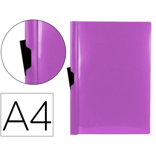 Liderpapel DP23. Carpeta dossier lavanda con pinza lateral de polipropileno 30 hojas A4