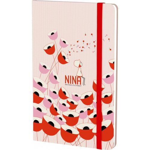 GRAFOPLAS 16280217. Cuaderno con goma 13x21 Nina Poppy