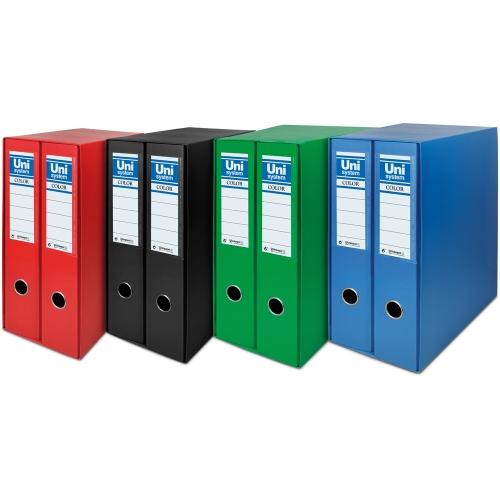 Unipapel 092326. Módulo 2 archivadores A4 75 mm. Color verde