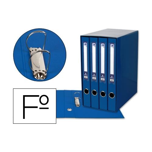 Liderpapel MD41. Módulo azul 4 archivadores folio 2 anillas mixtas 25 mm