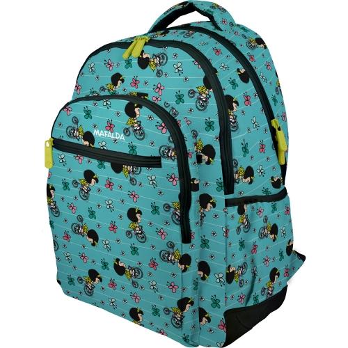 GRAFOPLAS 37500194. Mochila escolar Rubber Mafalda Bici