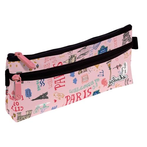 GRAFOPLAS 37540736. Estuche escolar portatodo simple Laurie París