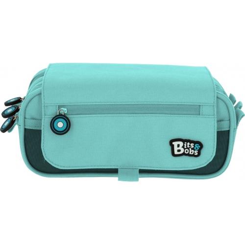 GRAFOPLAS 37543231. Estuche escolar portatodo triple con solapa Bits&Bobs azul claro