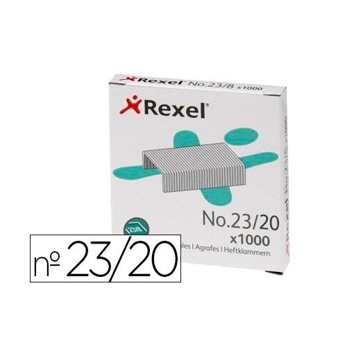 REXEL 2100926. Caja 1000 grapas 23/20 acero.