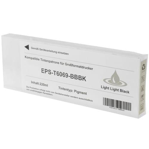 Iberjet EPS-T6069-BBBK Cartucho de tinta gris foto, reemplaza a Epson C13T606900