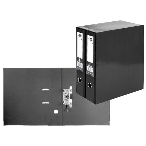 Liderpapel MD45. Módulo negro 2 archivadores folio 2 anillas 75 mm